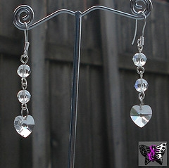 Crystal Heart Dangle